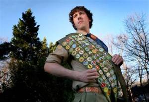 Overachieving boyscout, James Calderwood, who has achieved all 122 merit badges.