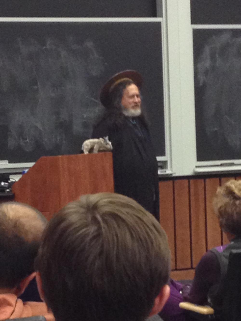 Stallman's alter ego, St. I-GNU-tius